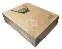 custom cheap small brown paper gift bag with OEM handles