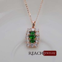 Yiwu Jewellery Green Stone Necklace Gifts for Mother Day