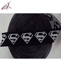 nylon jacquard elastic band webbing with logos