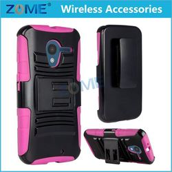 stainless steel Rubberized PC+TPU Dual Holster Combo case /cover back water proof watch FOR Motorola Moto X+1