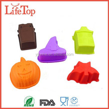 Flexible Halloween Pumpkin Face Mold HouseMold Silicone Molds
