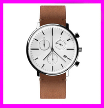 2015 China watch factory stainless steel women/men watch slim stone watch