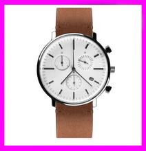 2015 China watch factory stainless steel women/men watch slim stone watch