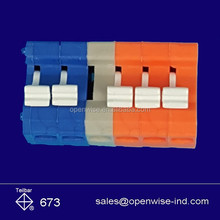 Colorful 3.5mm pitch 6 pins orange PCB terminal block