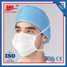 CE FDA NELSON approved non woven 3 ply PP disposable face mask 20+20+25g or OEM model