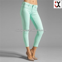 2015 skinny colored jeans for women ladies long summer pants JXQ259