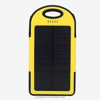 water proof 5000mAh solar power bank with led torch