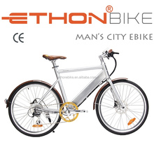 """26"""" Man's Electric City Bike with Hidden Battery"""