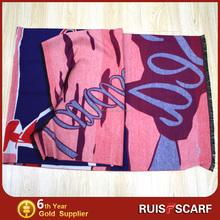 jacquard scarf shawls 100% cotton jacquard scarf and shawls