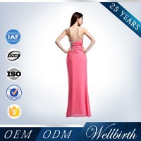 Latest Design Sleeveless Red Color Long Evening Dress With a Train