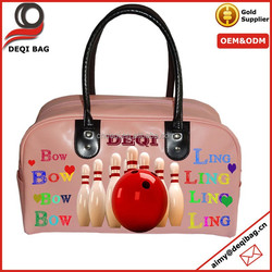 Europe Fashion Leather Personalized Bowling Bag