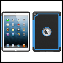 pc+silicone hard cover case for ipad 6