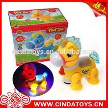 Caliente eléctrica caballo de la historieta con luz y música kids animal set promoción juguetes de dibujos animados