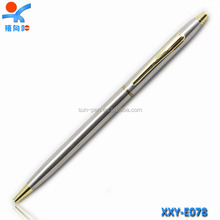 Fashion office stationery metal thin ballpoint pens