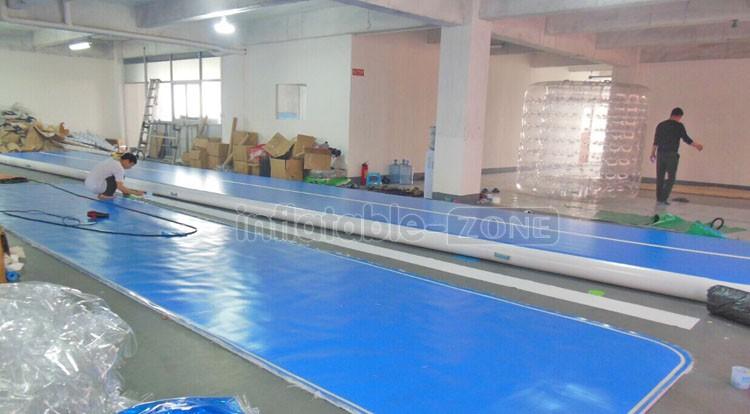 12 m faixa de ar ginástica pista tombo tombo trilha de ar inflável para jogos
