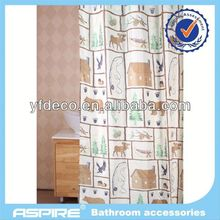 Polyester kinds of animal shower curtain
