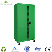 Arrowcrest manufacture hot sale commercial use low price steel metal new design file cupboard storage cabinet with wheels