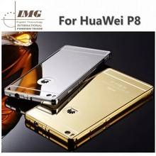 Luxury Aluminum ultra thin mirror phone cover for Huawei P8, for Huawei P8 cover with 3 colors
