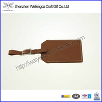 """Set of Four Brown Leather Luggage ID Tags """"Oh, the Places You'll Go"""""""