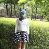 X-MERRY Child Kid Rubber Rabbit Bunny Mask Party Fancy Dress Costume