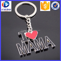 New Design Letter of love Different shapes Metal keychains