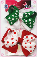 Fancy Valentine's Day bow hair clips(approved by BV)