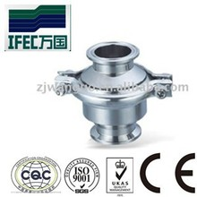 sanitary stainless steel clamp/weld check valve