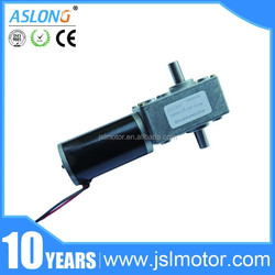 dual shaft high torque mini pwm electric 12v 150rpm worm drive 12v dc gear motor