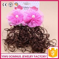Brazilian Human Hair Wet wavy weave French curl weaving 100% Synthetic flower Hair accessories Factory price wholesale stock C8