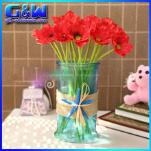 Wholesale Decorative Flowers PU poppies Mini Artificial red poppies - 34cm Length