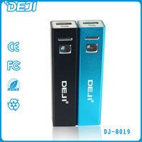 shenzhen tube external universial lipstick portable power bank 2600
