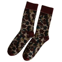 GSM-233 HAINING GS wholesale brown colored camouflage designs 100 percent men cotton socks