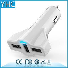 MOBILE charger for smartphone 5V 5.2A with smart IC 3 USB car cigarette lighter adapter charger