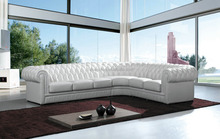 New classic interior furniture antique chesterfield white leather sofa 310B