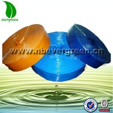 1'' green,black,red,blue color pvc lay flat hose