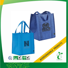 pictures printing shopping tote nonwoven bags from 100% Plant Starch