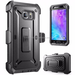 Belt Clip Holster+Heavy Duty Rugged Hard Case Cover For SAMSUNG Galax s6 shock proof