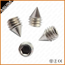 STAINLESS STEE AND CARBON STEEL DIN914 HEX SOCKET SET SCREW WITH CONE POINT FOR DOR HANDEL