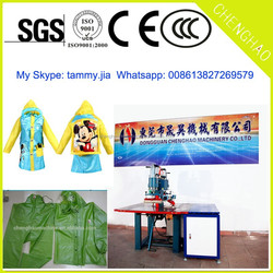 PVC Welding Machine for raincoat factory direct sale High Frequency PP/OPS/PET/PP