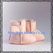 2015 nuevos estilos clásicos de cuero suave zapatos de bebé