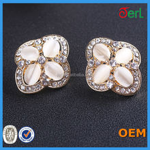 Top popular factory metal decorative crystal rhinestone buttons