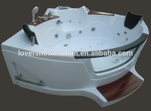 European corner Acrylic whirlpool massage bathtub