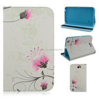 Light Pink Flower Fold Folio Stand TPU+PU Leather Tablet Cover Case For Samsung Galaxy Tab 4 7inch T230