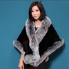 Elegant Woman Wear Stole Fur Stole Shawl
