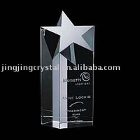 crystal star trophy crystal paperweight,crystal office decoration(JJP-032)