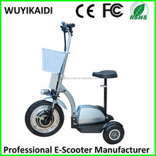 36V 350W 12AH export cheap china electric zappy scooter 3 wheel for adults for handicapped people