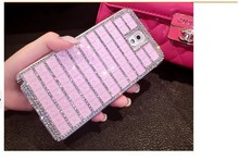 Lovely shaped diamond bling fashion case for note4