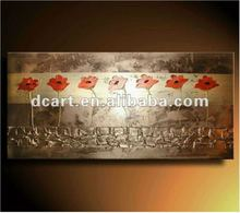2012 Hot selling wall decor flower oil painting