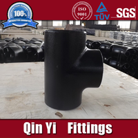 threaded pipe fitting elbow reducer tee cap flange sch80
