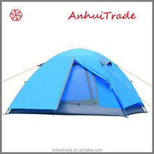 2 person double layer fiberglass pole outdoor tent